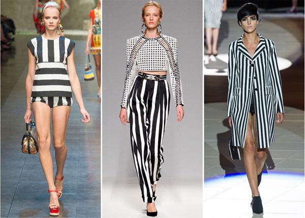 tendencia moda primavera verano 2013 rayas