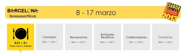 barcelona restaurant week 2013