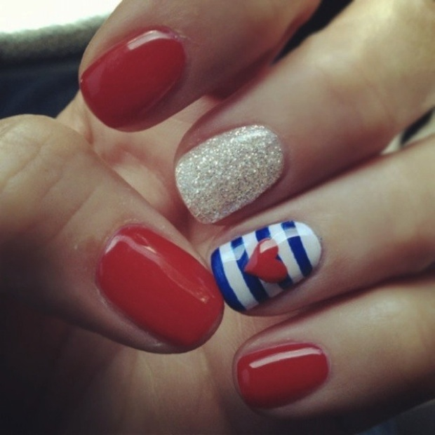 nail art navy