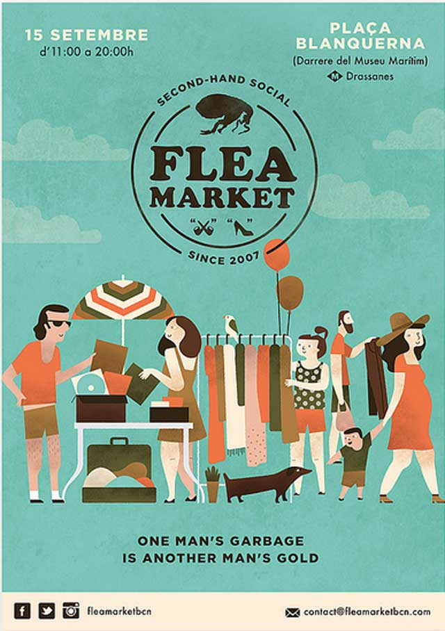 Fashion, vintage & flea Markets in Barcelona in September ...