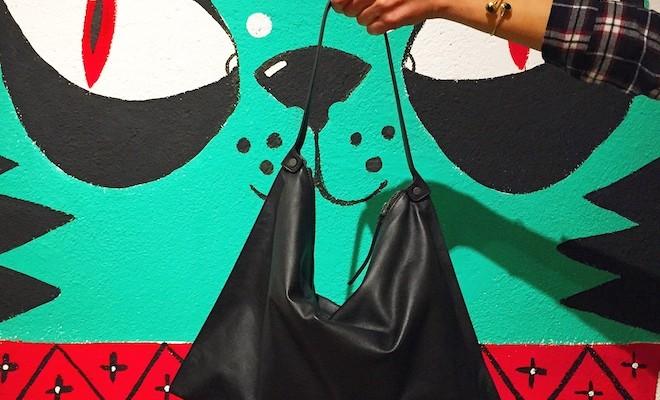 ecco Sculptured bag negro