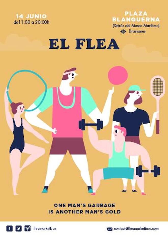 flea market barcelona junio