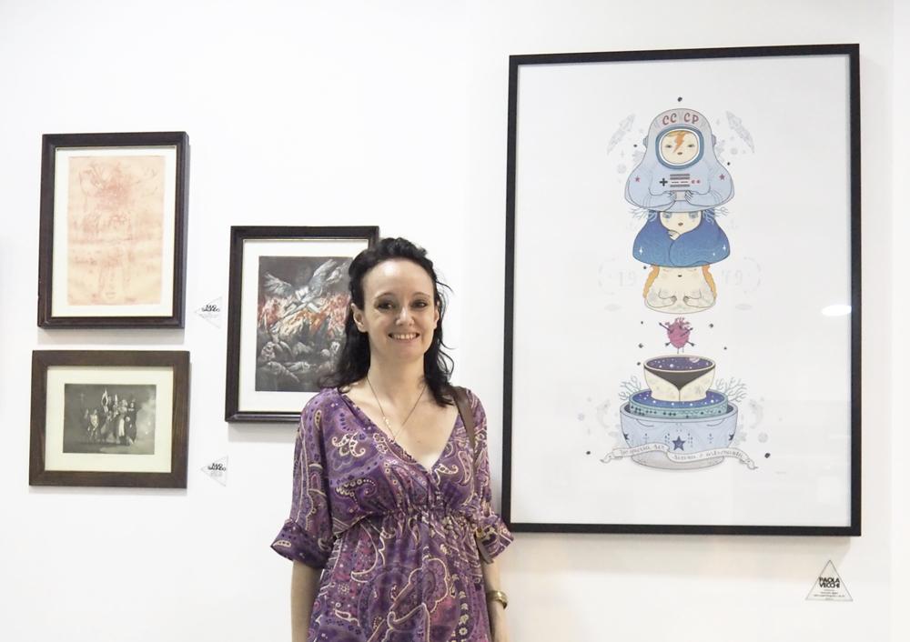La ilustradora Paola Vecchi y su obra Retrofutura