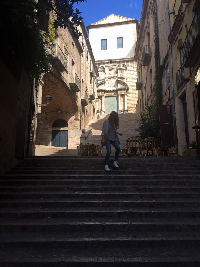 escaleras girona