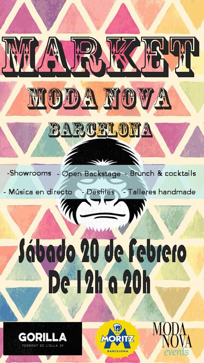 cartel evento moda barcelona