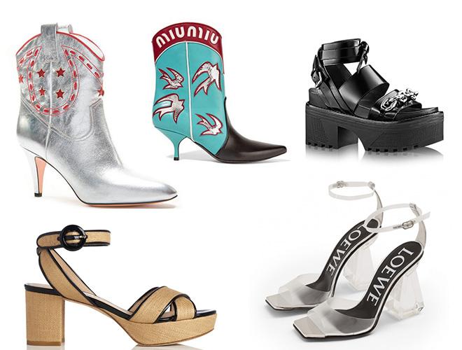 moda en los pies los zapatos de moda de la primavera