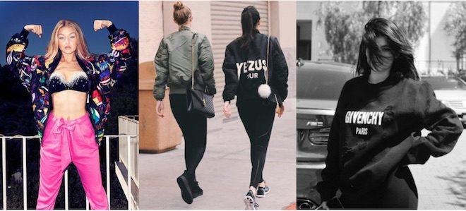 athleisure style kandal jenner gigi Hadid