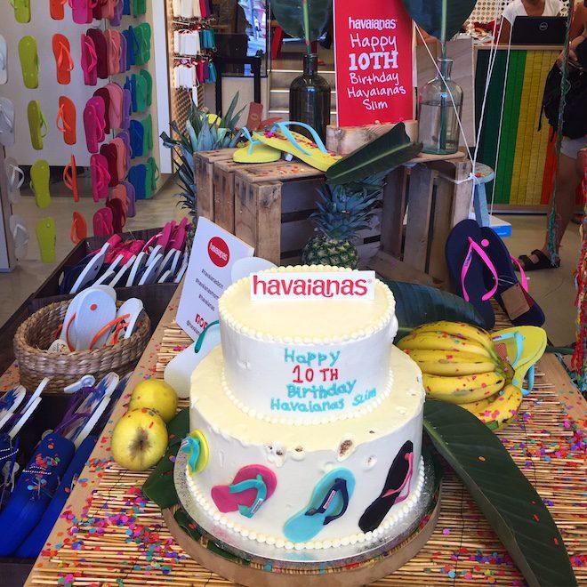 havaianas slim flip flop 10 aniversario