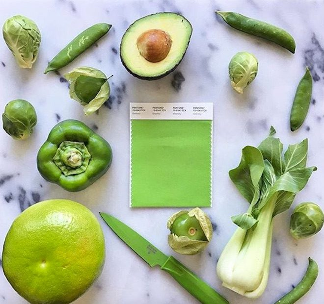 greenery color de moda gastronomia