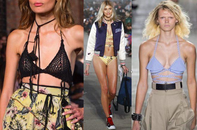banadores de moda bralettes 2017