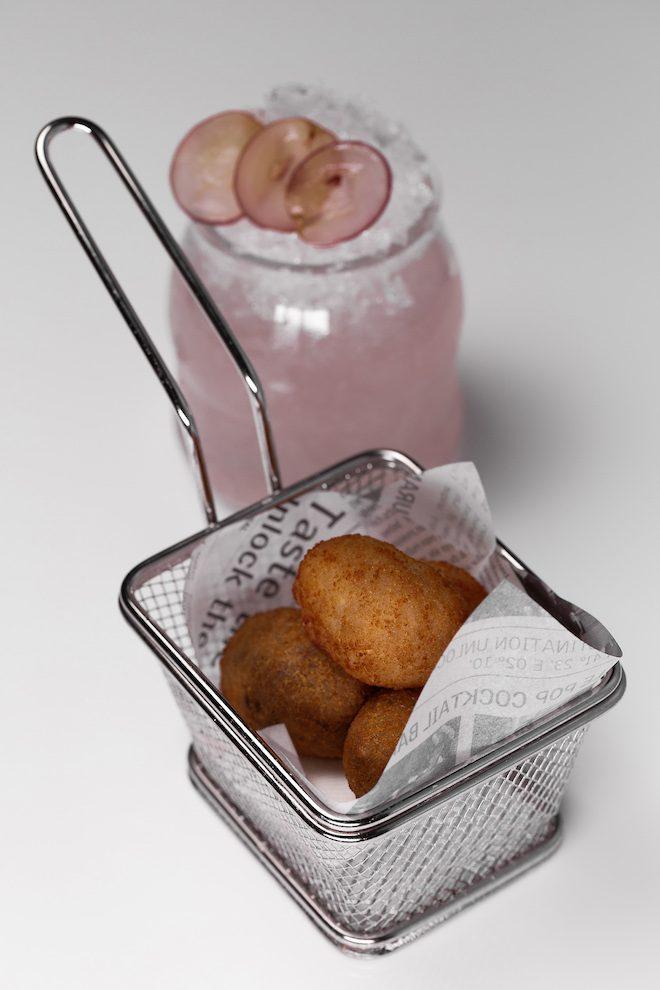 Croquetas de jamón ibérico y setas - maridaje Candy Crush