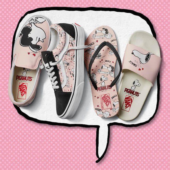 Vans x Peanuts rosa