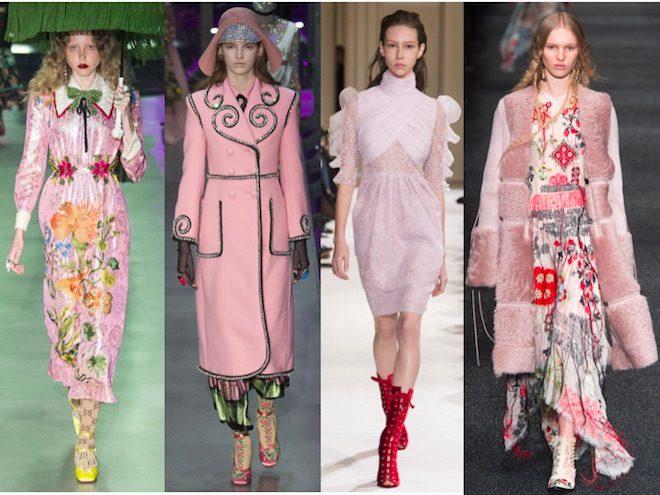 colores de moda otono invierno 2017 18 rosa palo