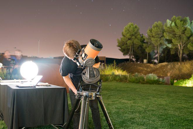 bodegas torres Noche de Estrellas telescopio