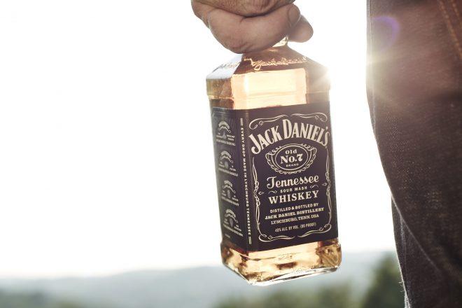 Jack Daniel's botella