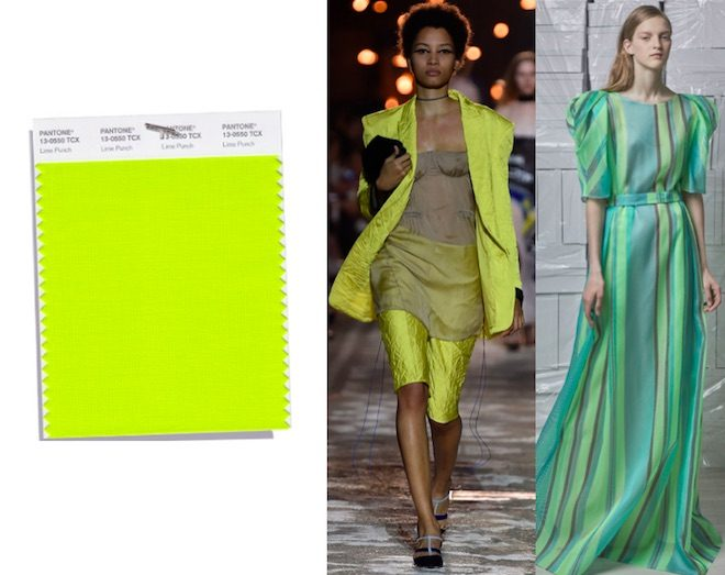 colores de moda primavera verano 2018 lemon