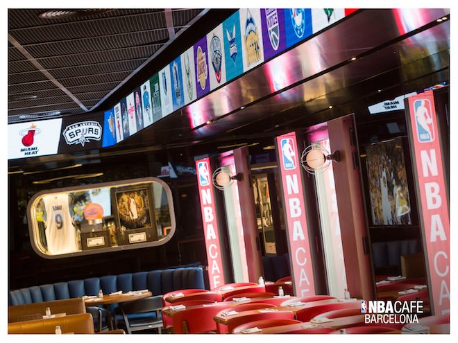 nba cafe barcelona restaurante