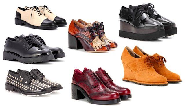 derby shoes zapatos de moda invierno 2018