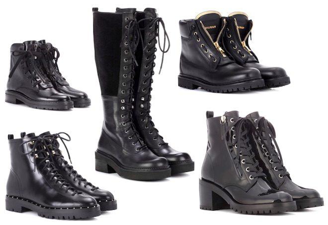 zapatos de moda combat boot
