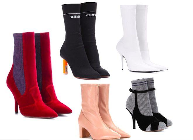 zapatos de moda invierno 2018 botin calcetin
