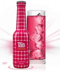 Tab Fabulous la Coca Cola Rosa exclusiva para chicas