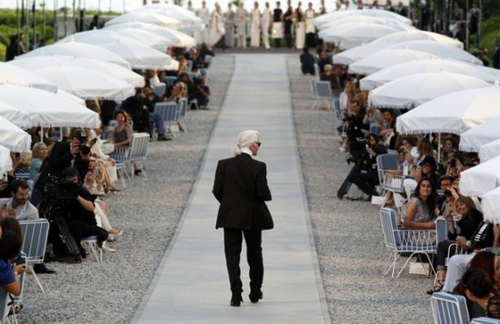 Karl Lagerfeld 2011-2012 Cruise collection show Cap d'Antibes