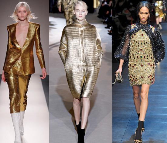 Balmain-Stella-McCartney-Dolce-&-Gabbana gold f/w 2011 2012