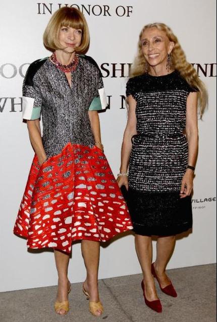 Anna Wintour & Franca Sozzani MFW