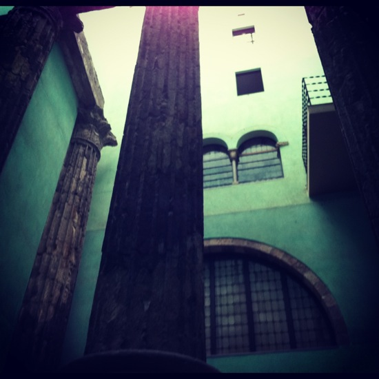 columnas romanas barcelona