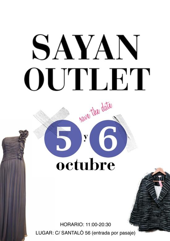 sayan outlet 5 6 octubre 2011