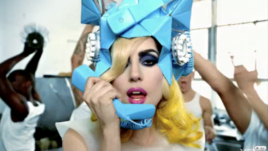 Lady Gaga sombrero Fred Butler Telephone