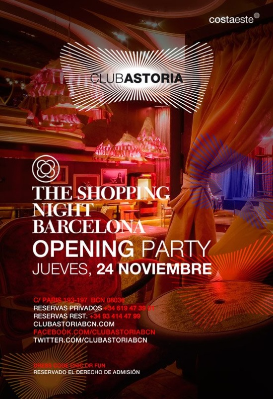 shopping night barcelona club astoria