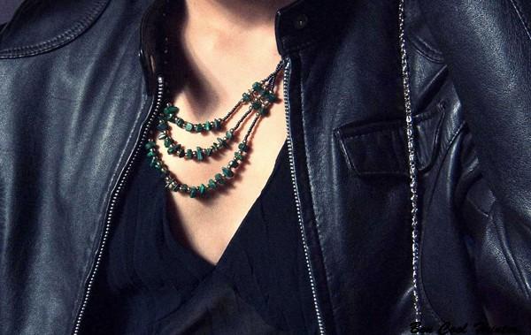 collar vintage jade verde