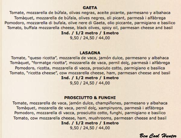 pizzas barcelona