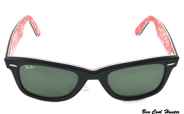 gafas ray ban patillas rojas