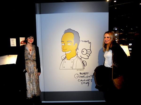 caricatura Ferran Adrià Matt Groening