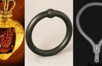 corazón real Salvador Dalí, Zip Necklace de Van Cleef & Arpel anillo 'Gold makes you blind' de Otto Künzli.