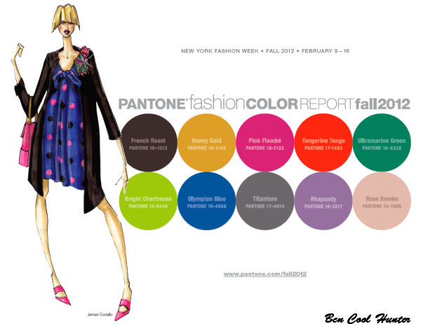 pantone color trend fall 2012