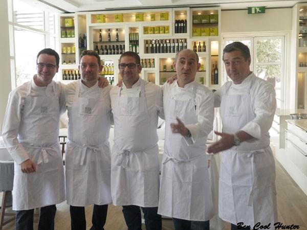 Paco Morales, Albert Adrià, Dani García, Paco Pérez, Rivero Delgado y Joan Roca