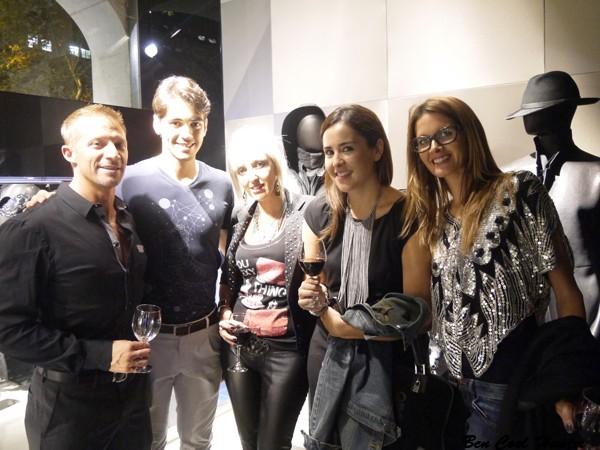En Emporio Armani con Mark Drendel de CEC WINES