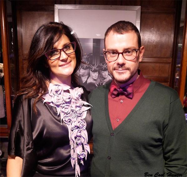 Fabiana Finetto con el diseñador Juan Pedro López