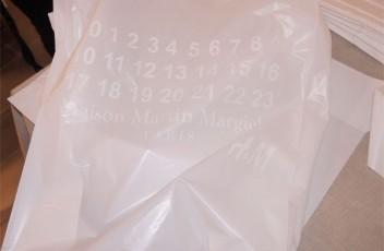 margiela hm plastic bag