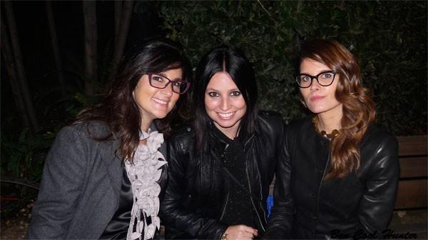 En el Palau Robert con Fabiana y Andrea de QueLlevas
