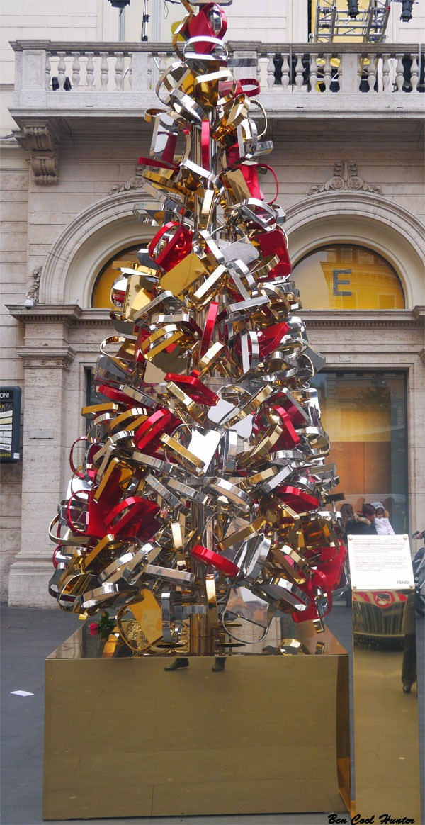 El arbol de Navidad del Palazzo Fendi