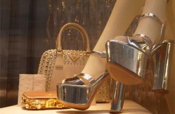 prada escaparate navidad zapatos