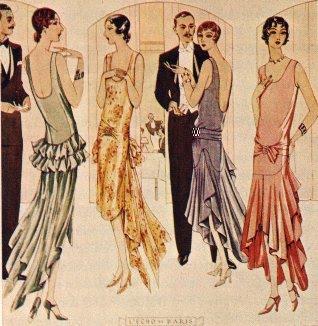 flappers vestidos