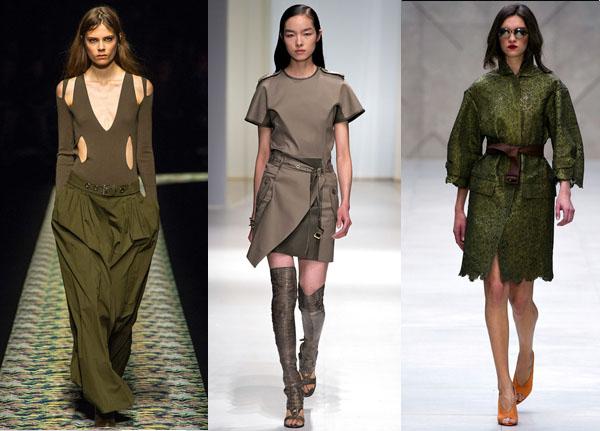 moda primavera verano militar 2013