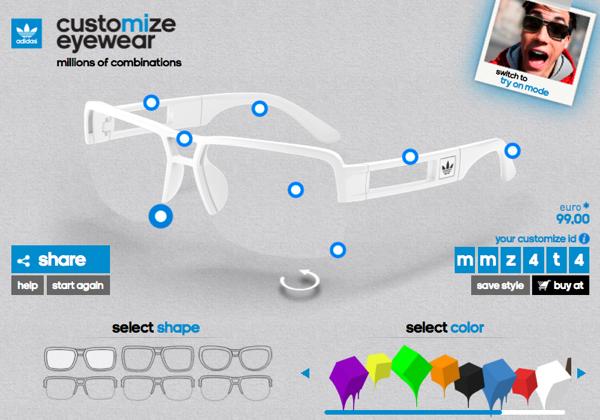 gafas customizables adidas originals