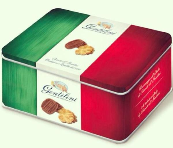 gentili scatola latta italiana