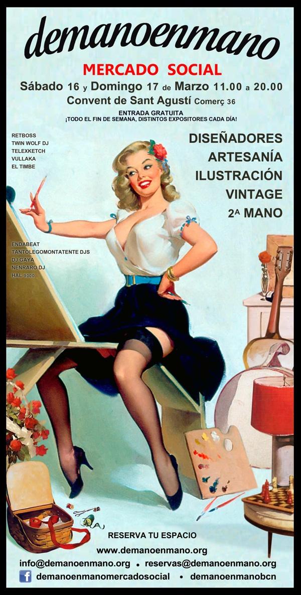 Vintage 2a mano y artesan a este fin de semana en el - Mercados de segunda mano barcelona ...